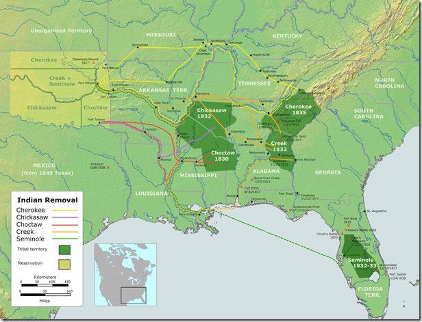 native lands of 5 civilized tribes