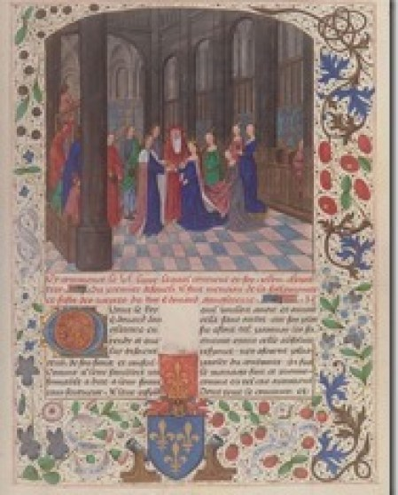 Marriage_Edward_IV_Elizabeth_Woodville marries Edward VI Wavrin_Anciennes_Chroniques_d'Angleterre_Francais_85_f109.jpeg