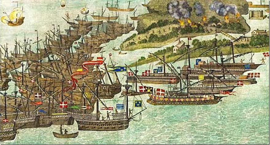 The_French_fleet_attacks_Bembridge