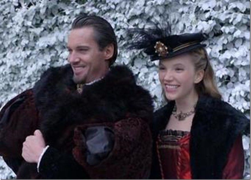 Katheryn Howard with Henry VIII in Showtime The Tudors