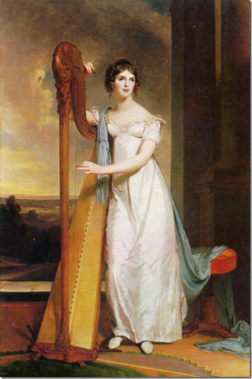 Mary Crawford with Harp