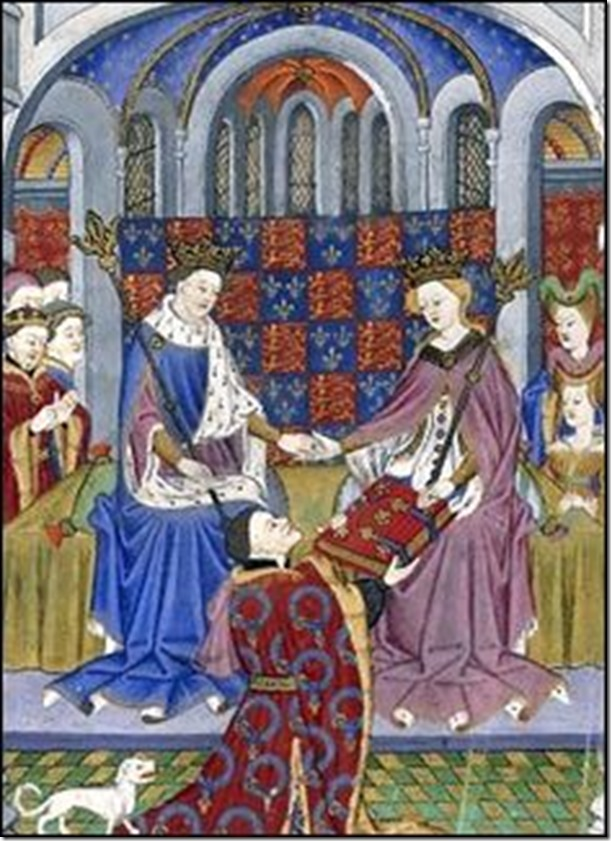 medieval exchanging gifts