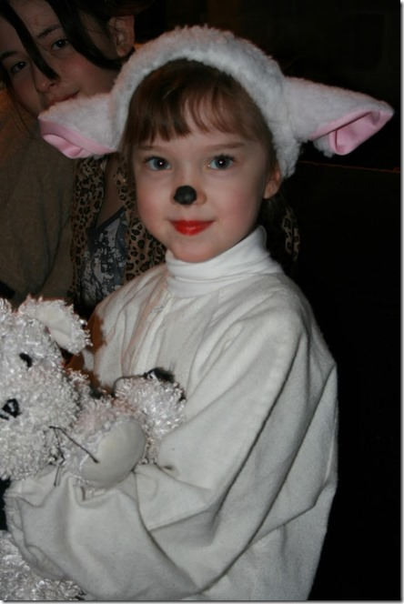 Buttercup as lamb in Xmas play