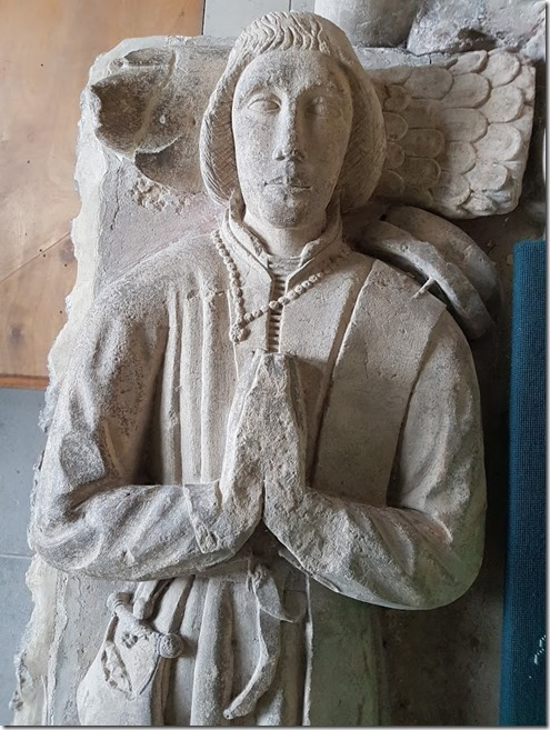 Tenby St Mary Church White tomb Thomas close up