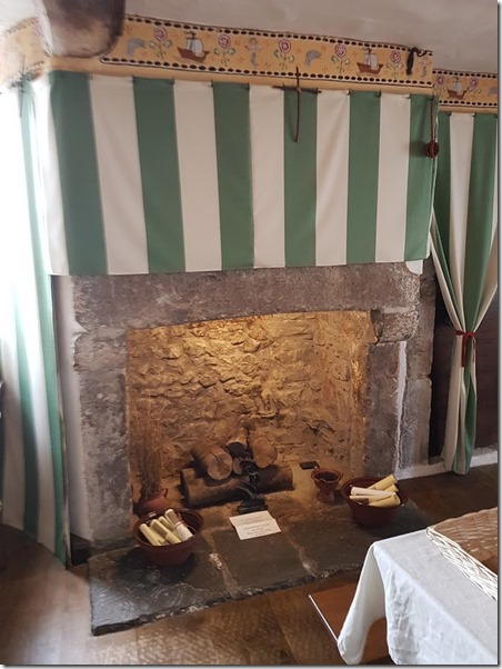 Tenby Tudor Merchant's House first floor fireplace