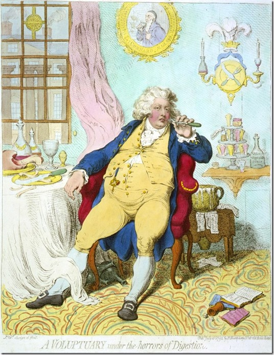A-voluptuary prince George by Gillray
