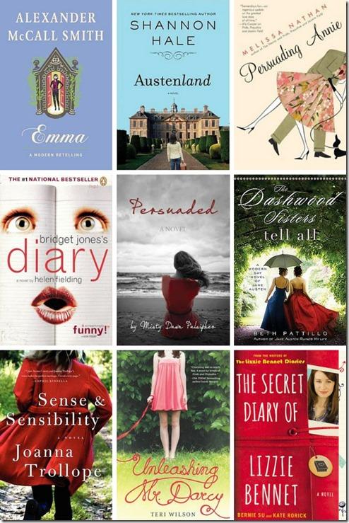 Jane-Austen-retellings collage