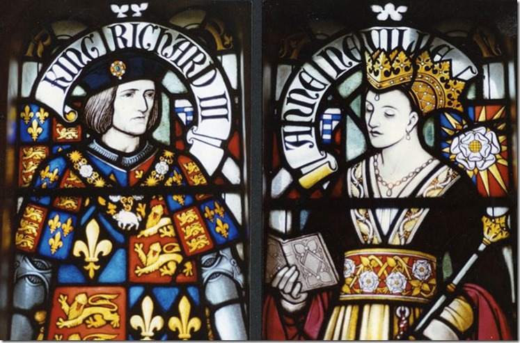 King_Richard_III_and_Queen_Anne stain glass Cardiff castle