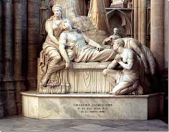 Charles James Fox monument, Westminster Abbey.