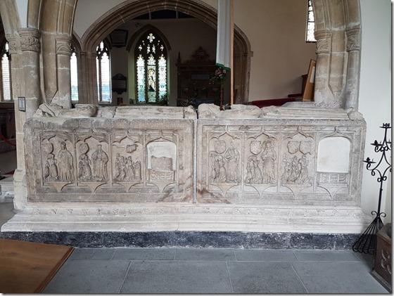 Tomb of Thomas and John White, mayors of Tenby in Tudor era, at St Mary Church Tenby