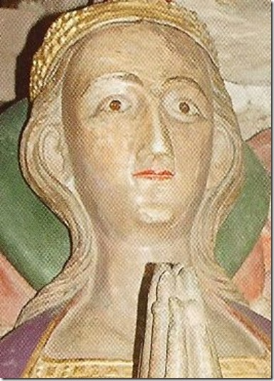 Elizabeth of Lancaster Duchess of Exeter effigy