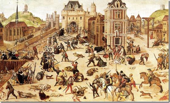 St. Bartholomew's Day massacre by Dubois
