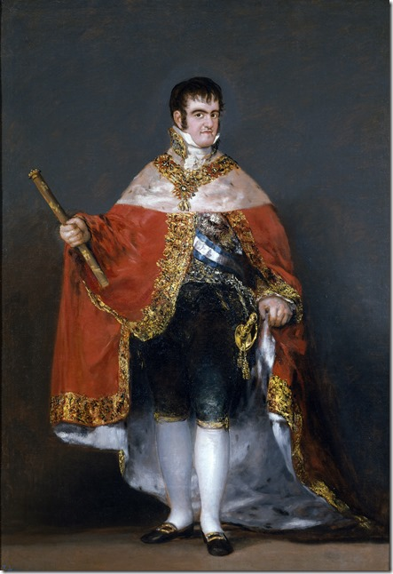 Ferdinand_VII_of_Spain_in_his_robes_of_state by Goya