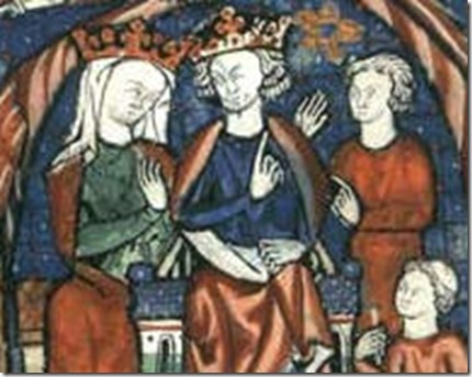 Eleanor and Henry II and two eldest sons