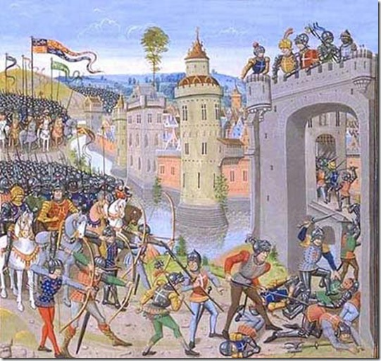 Harfleur during 100 years war