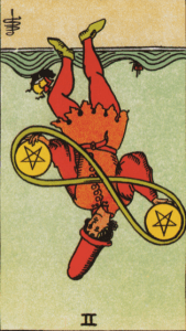 Two of Pentacles Reversed Psychic Prediction