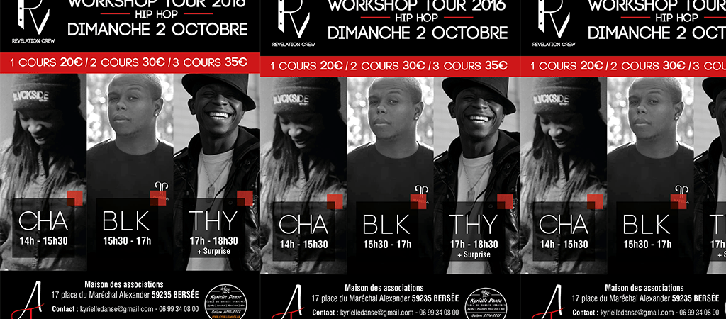Workshop Revelation Crew // 100% Hip Hop // 02.10.16 // Bersée