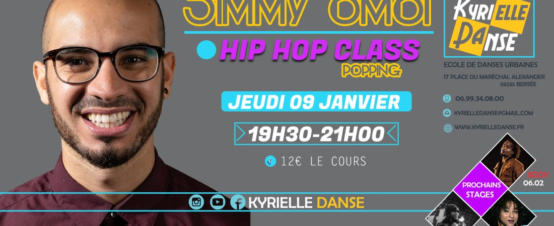 STAGE DE POPPING  AVEC JIMMY OMOI