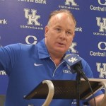 UK Football Coach Mark Stoops on Media Day 2019