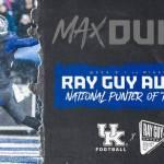UK Football's Max Duffy Named Ray Guy Award Punter of the Week Again