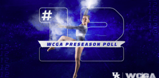 UK GYM: UK Gymnastics Ranked No. 12 in WCGA Preseason Poll
