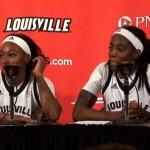 Louisville WBB Evans & Jones on WIN vs Wake Forest