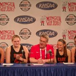 Bullitt East HS Girls Basketball Sweet 16 Presser vs Etown