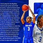 UK MBB: Boston Jr. to Declare for NBA Draft, Intends to Pursue Pro Career