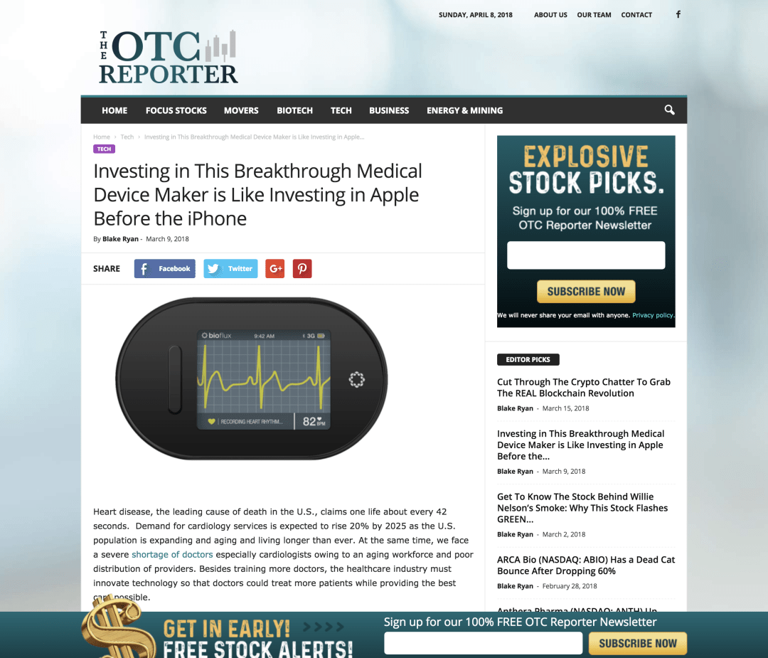 Investing in This Breakthrough Medical Device Maker is Like Investing in Apple Before the iPhone The OTC Reporter