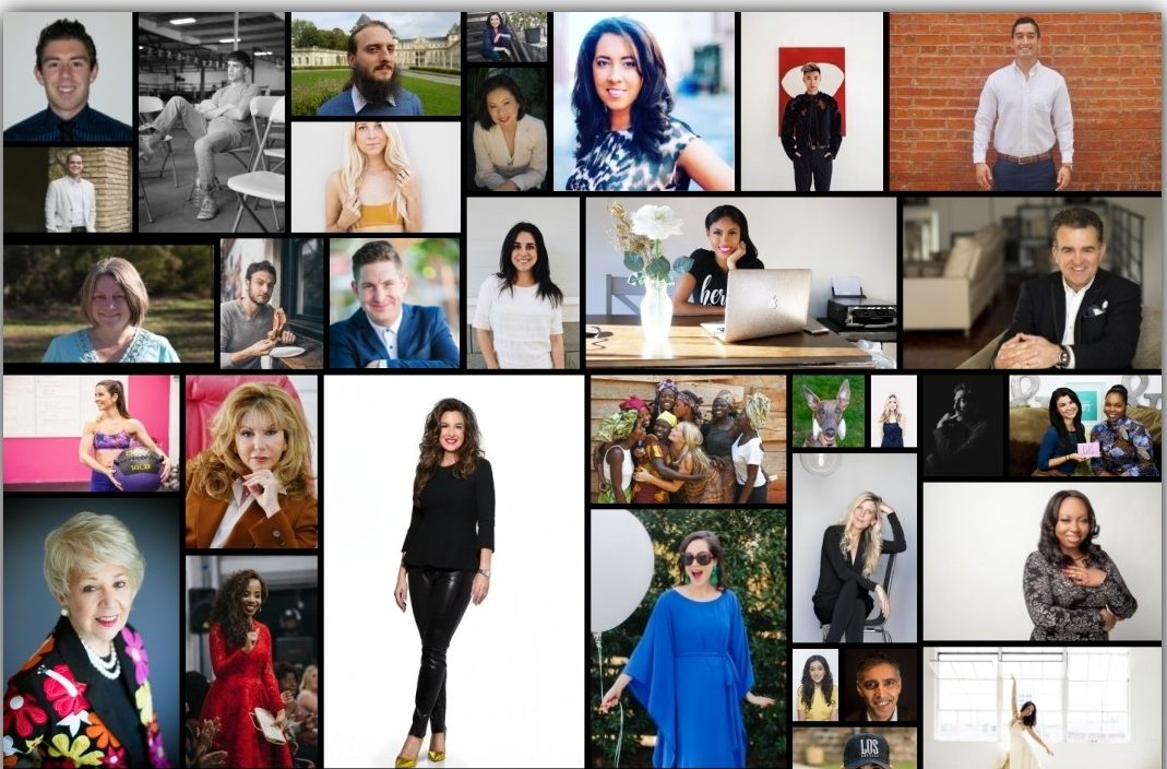 collage of 75 influencers on Thrive Global