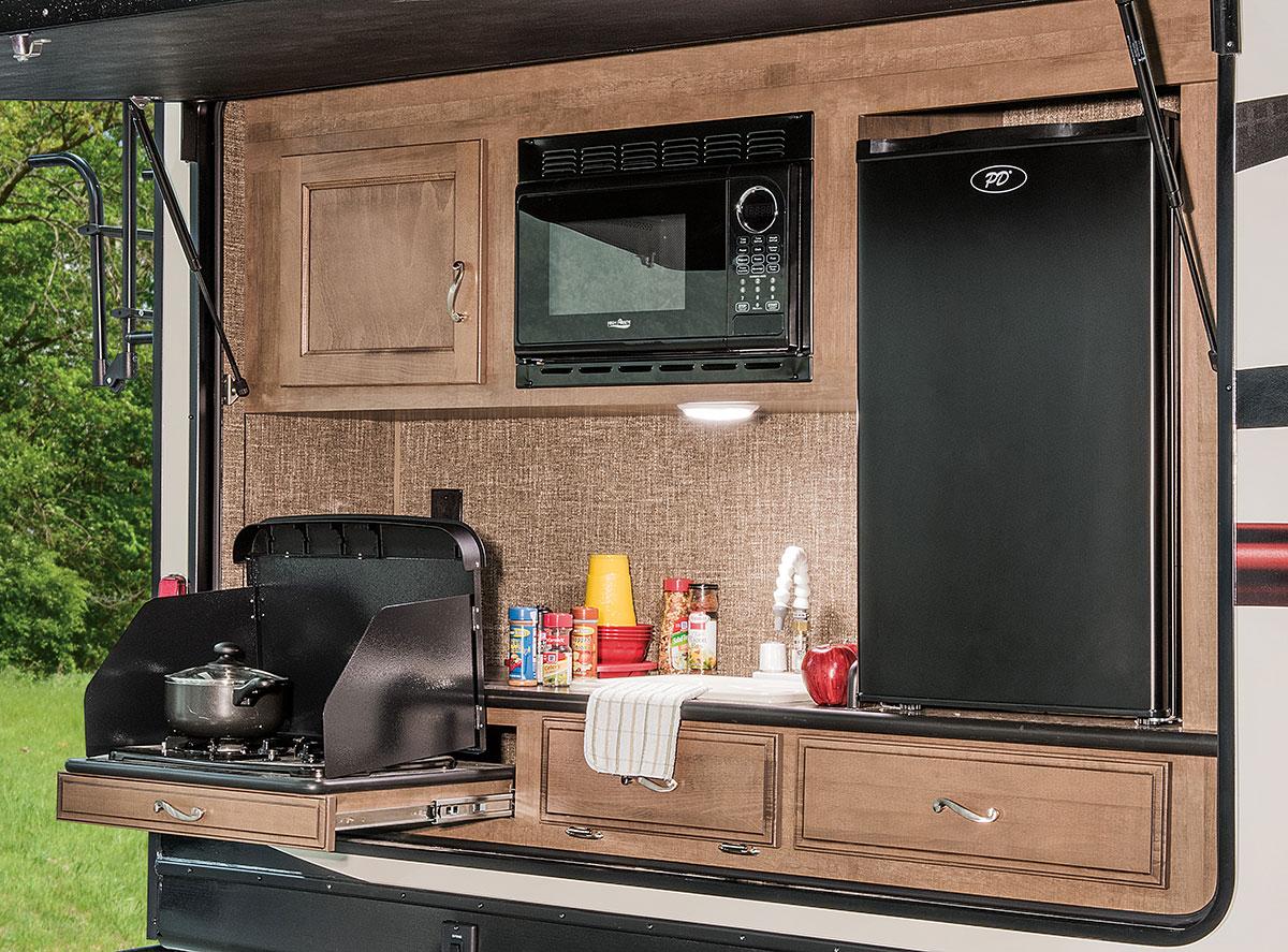 kitchen planner faucet 2016 spree 329ik lightweight travel trailer | k-z rv