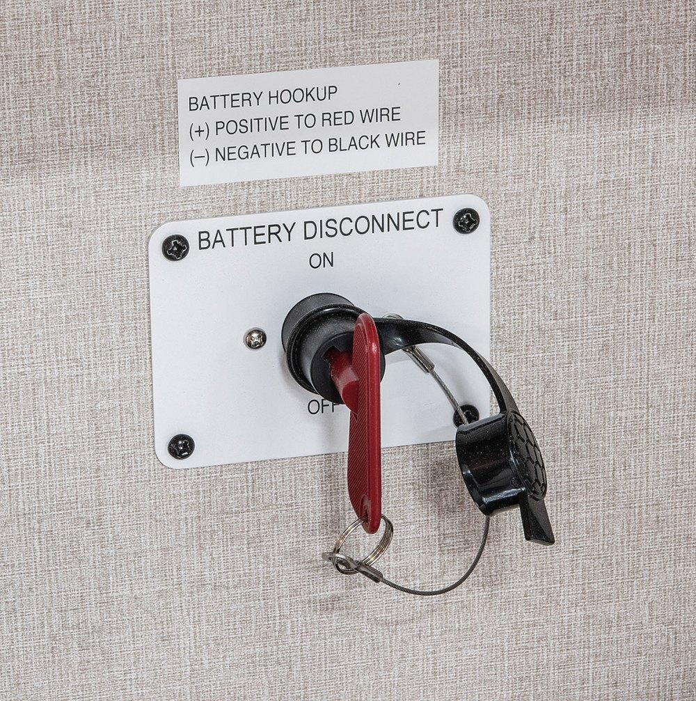 medium resolution of  2018 kz rv durango 1500 d251rlt fifth wheel exterior battery disconnect
