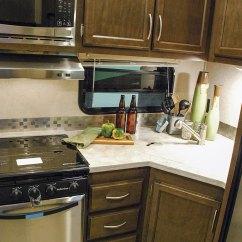 Toy Hauler With Outdoor Kitchen Alder Cabinets Sidewinder 3517dk Fifth Wheel   K-z Rv