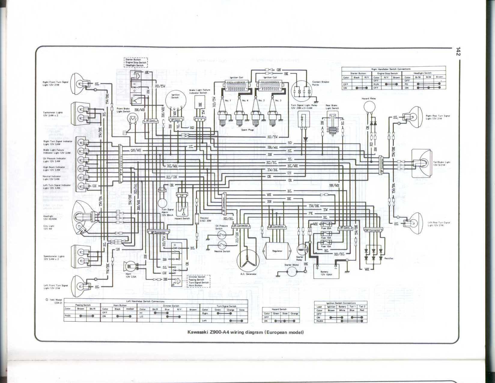 Wiring Diagram For Kawasaki Z1 - M7 Wiring Diagram on