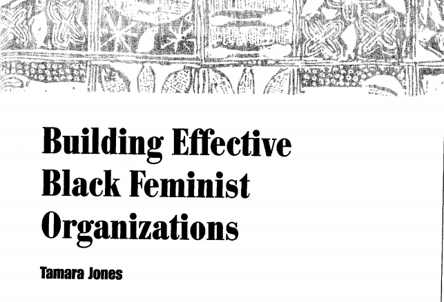Building Effective Black Feminist Organizations