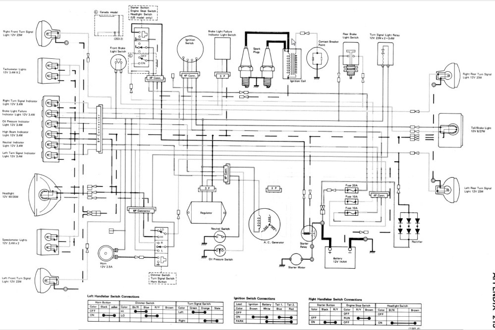 medium resolution of 1978 kawasaki 750 wiring diagram