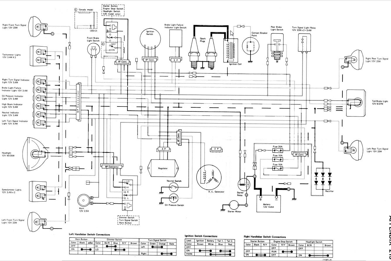 hight resolution of 1977 kz650 wiring diagram