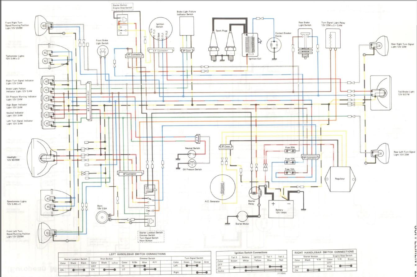 kawasaki wiring diagram cbus dali kz750 all data kz550 twin k z 400 library