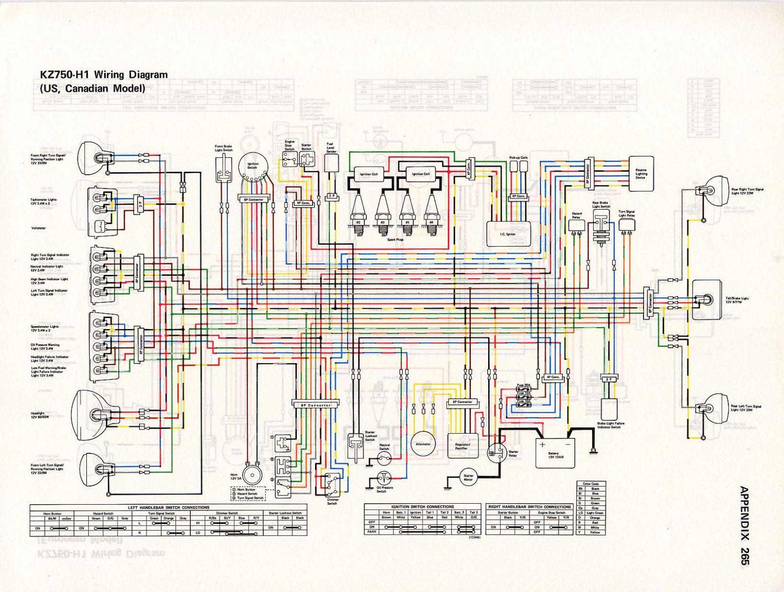 1982 kz1000 wiring diagram audio spectrum analyzer circuit 1980 kawasaki ltd yamaha dt 175