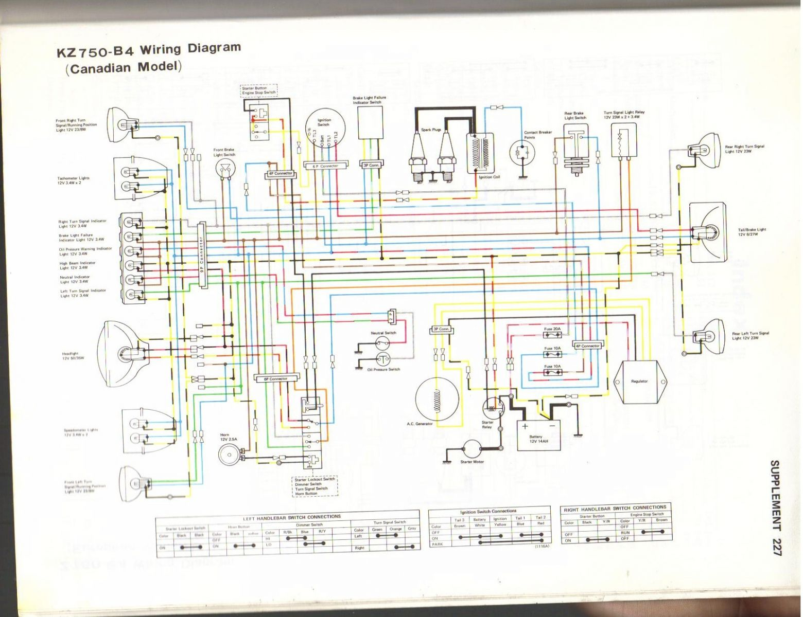 1977 kawasaki kz1000 wiring diagram maintained emergency lighting 81 kz440 z1000 elsavadorla