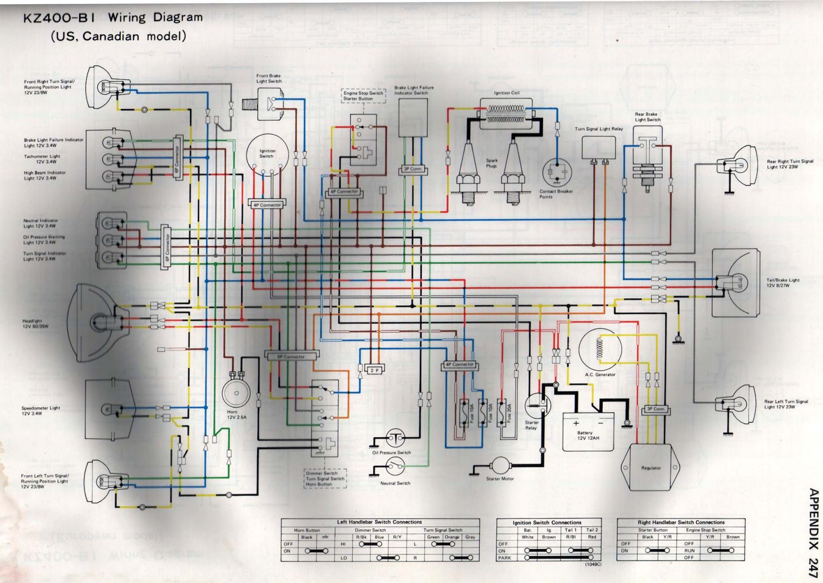 wiring diagram turn signal relay 2004 ford explorer stereo leds won 39t work kzrider forum kz z1 and z
