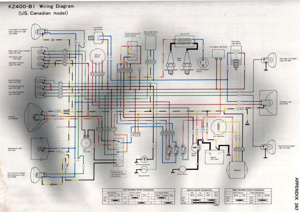 medium resolution of k z 400 wiring diagram