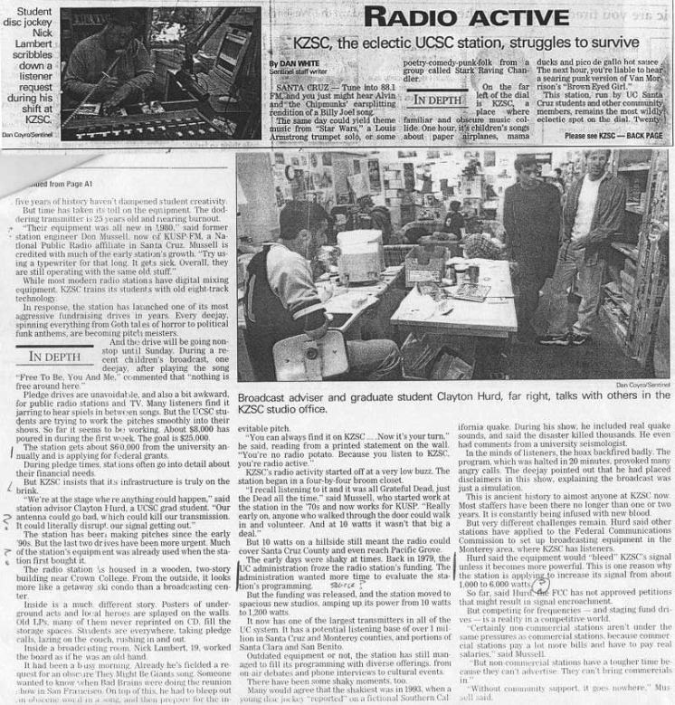 "Santa Cruz Sentinel - ""Radioactive"""