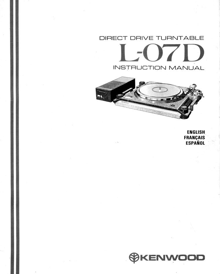 Welcome to the Unofficial Kenwood L-07D Direct Drive