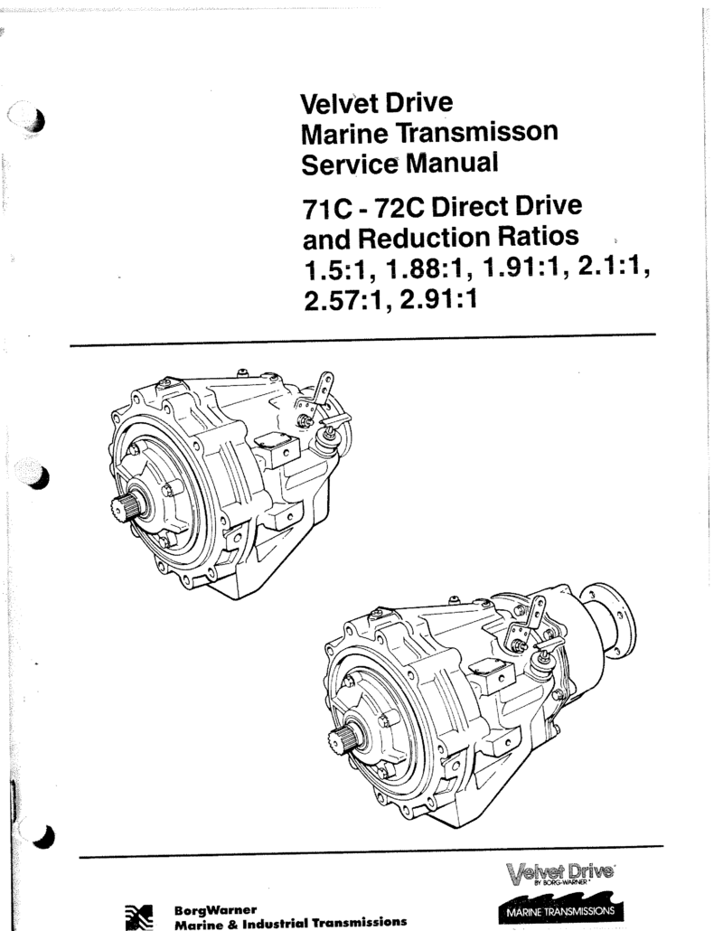 Borg Warner 71c 72c Transmission Manual