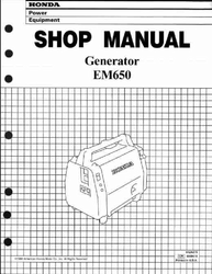 ' Honda Em650 Generator Shop Manual'