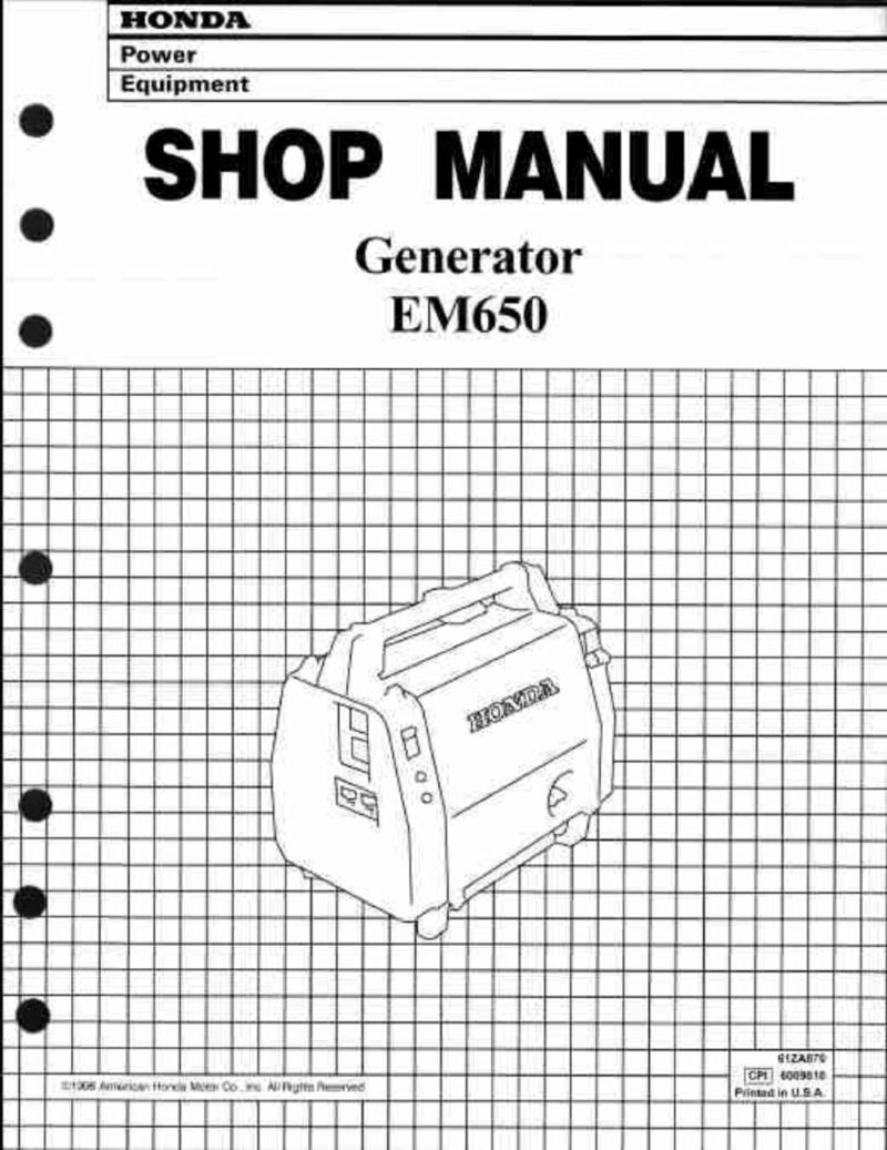 Honda Em650 Generator Service Repair Workshop Manual