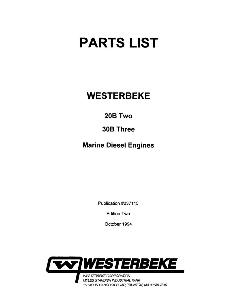 37115 Rev2 12c 20b 30b Parts List