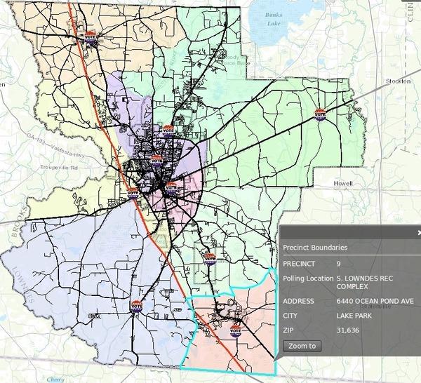 600x546 Precinct Boundaries, in Precincts, by John S. Quarterman, 18 May 2014
