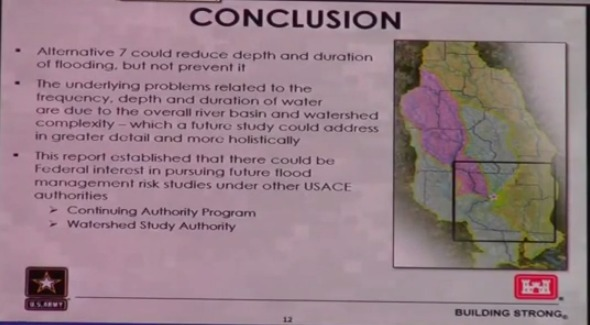 Conclusion, in Flooding Study --Army Corps of Engineers at Valdosta City Council, by Gretchen Quarterman, for Lowndes Area Knowledge Exchange, 6 May 2014